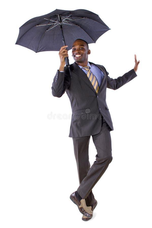 Танцевать с зонтиком стоковая фотография