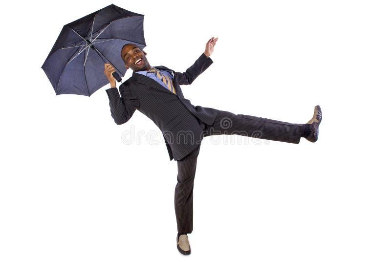 Танцевать с зонтиком стоковая фотография rf