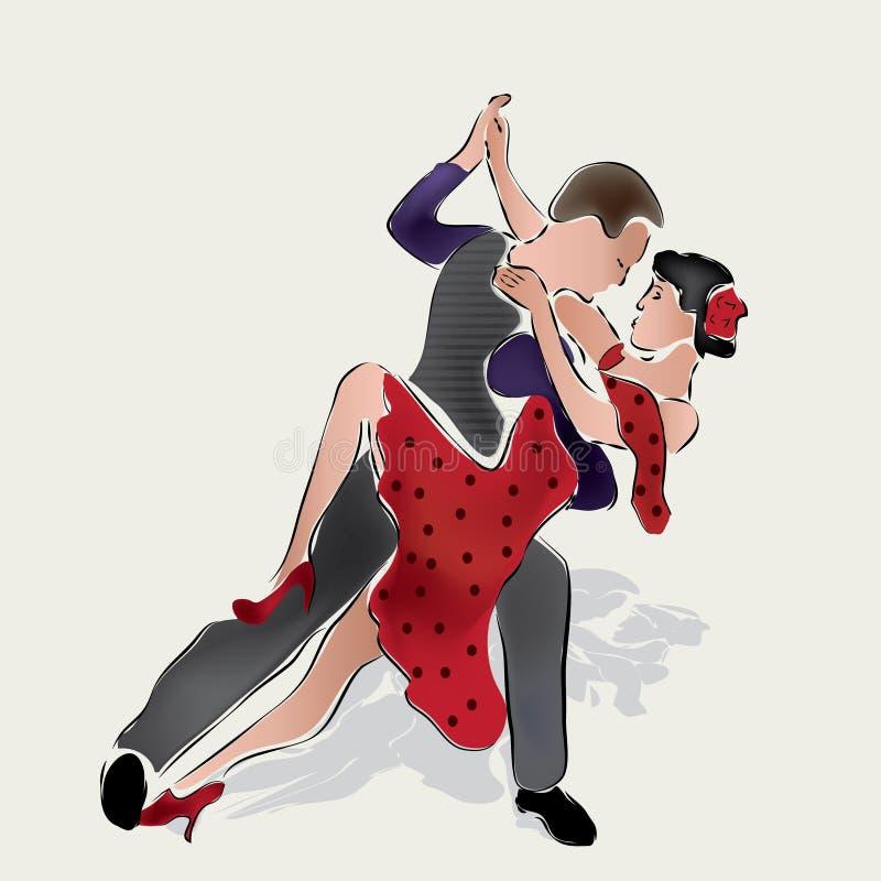 Танцоры латиноамериканца иллюстрация вектора