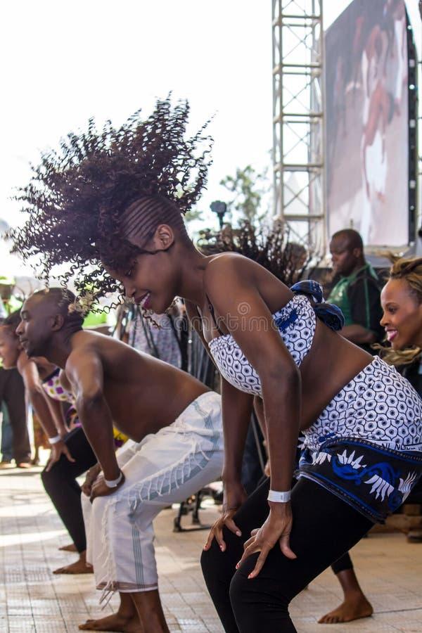 Танцоры джазового фестиваля Safaricom стоковые фото