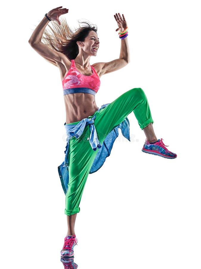 Танцоры женщины cardio танцуя фитнес работая isolat excercises стоковое фото rf