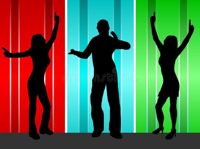 танцоры иллюстрация вектора