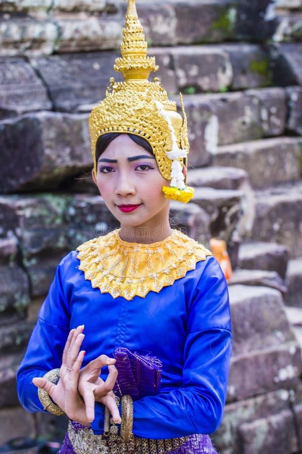 Танцоры Apsara камбоджийцев стоковое изображение