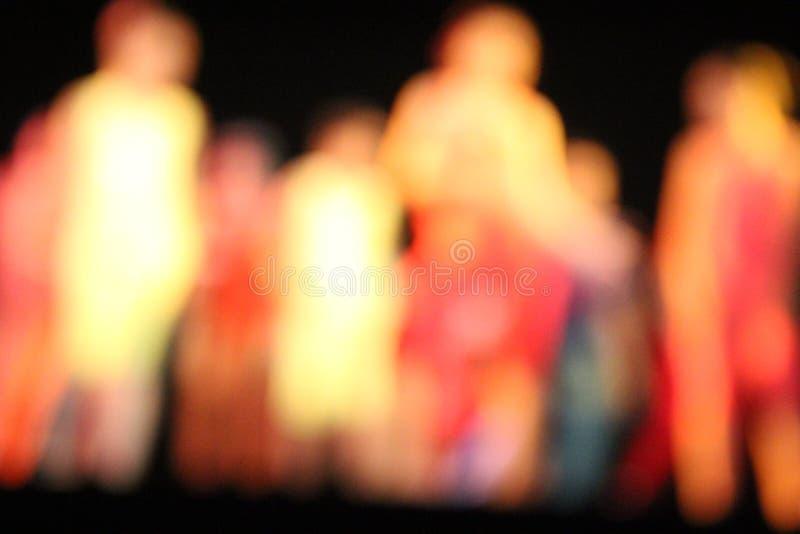 Танцоры Bokeh стоковые фото