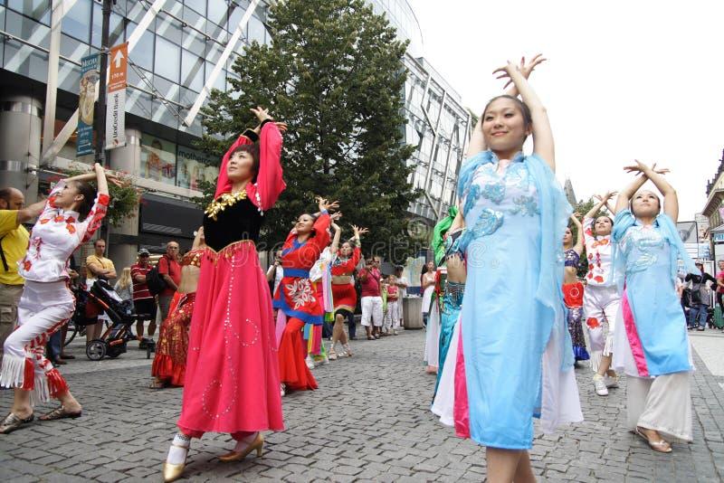 танцоры fair2 prague стоковое фото rf
