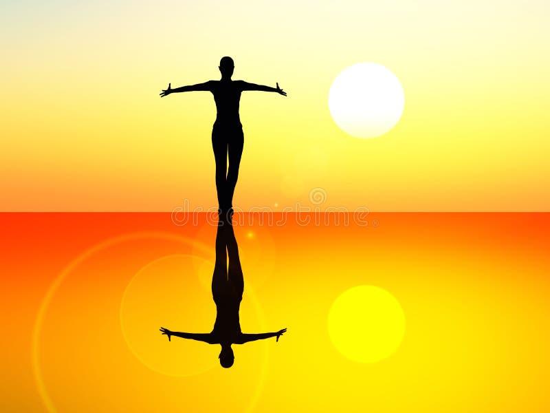 танцор балета иллюстрация вектора