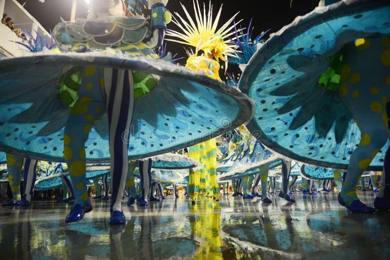 Танцор Бразилия самбы Carnaval стоковое изображение rf