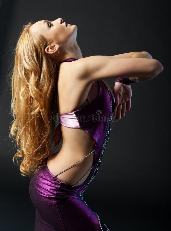 Танцор. Востоковедная танцулька. стоковое изображение
