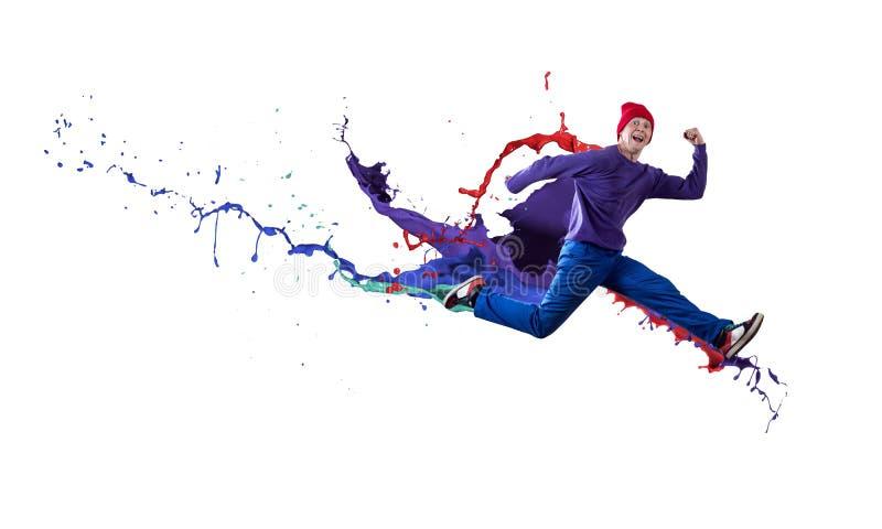 Танцор в скачке стоковые изображения rf