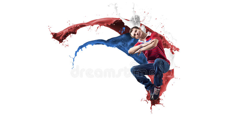 Танцор в скачке стоковое изображение
