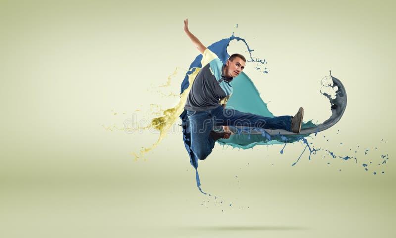 Танцор в скачке стоковые фото