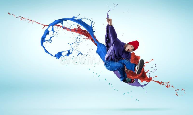 Танцор в скачке стоковые фотографии rf