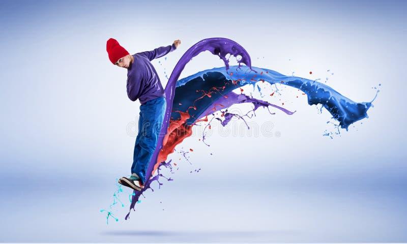 Танцор в скачке стоковое фото rf