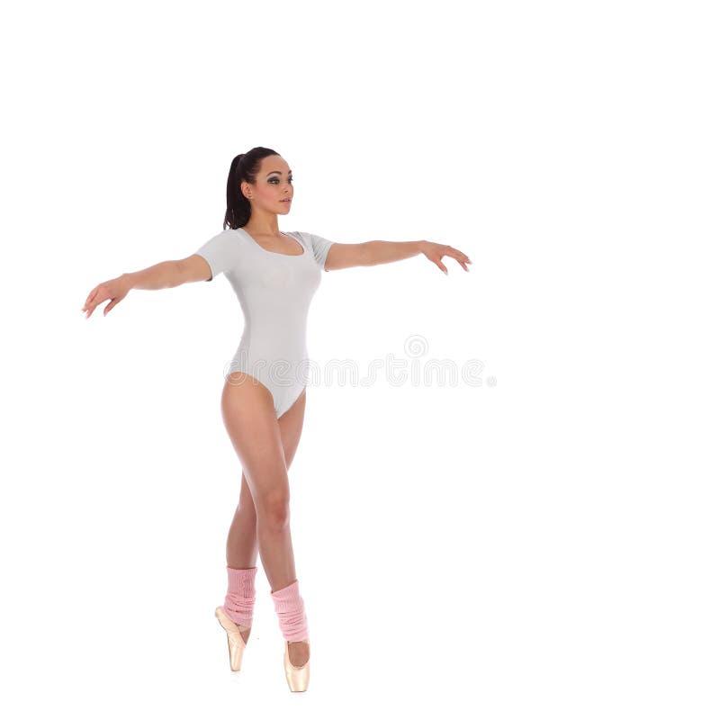 Танцор девушки одетый как балерина с красивым составом стоковые фото