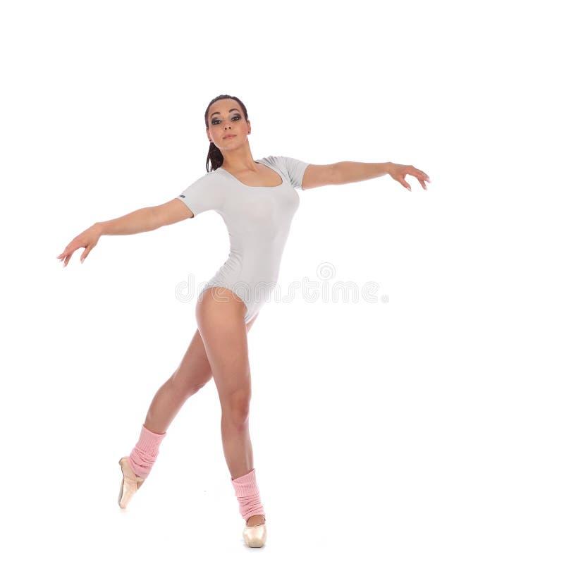 Танцор девушки одетый как балерина с красивым стоковые фото