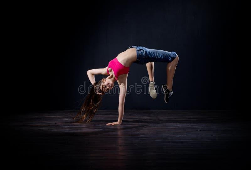 Танцор девушки современный (нормальная версия) стоковые изображения