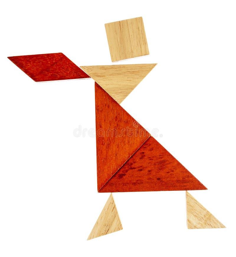 Танцор или официантка Tangram стоковые изображения