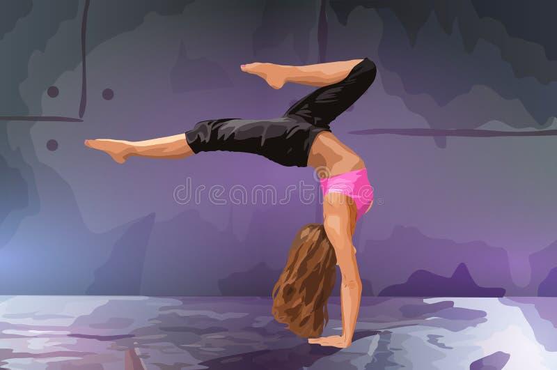 Танцор молодой женщины бесплатная иллюстрация