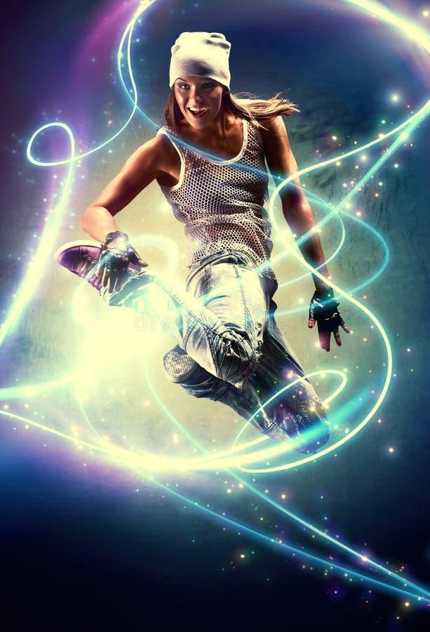 Танцор молодой женщины стоковое изображение