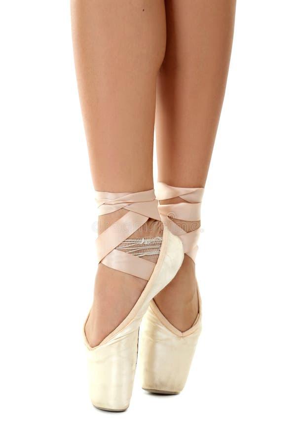 Танцор на pointe стоковая фотография rf