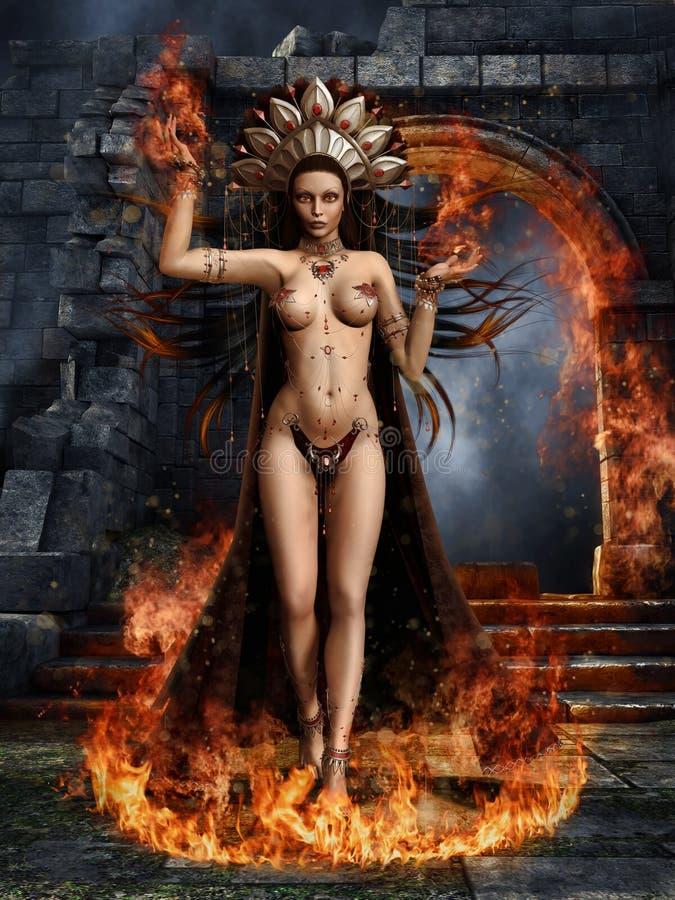 Танцор огня бесплатная иллюстрация