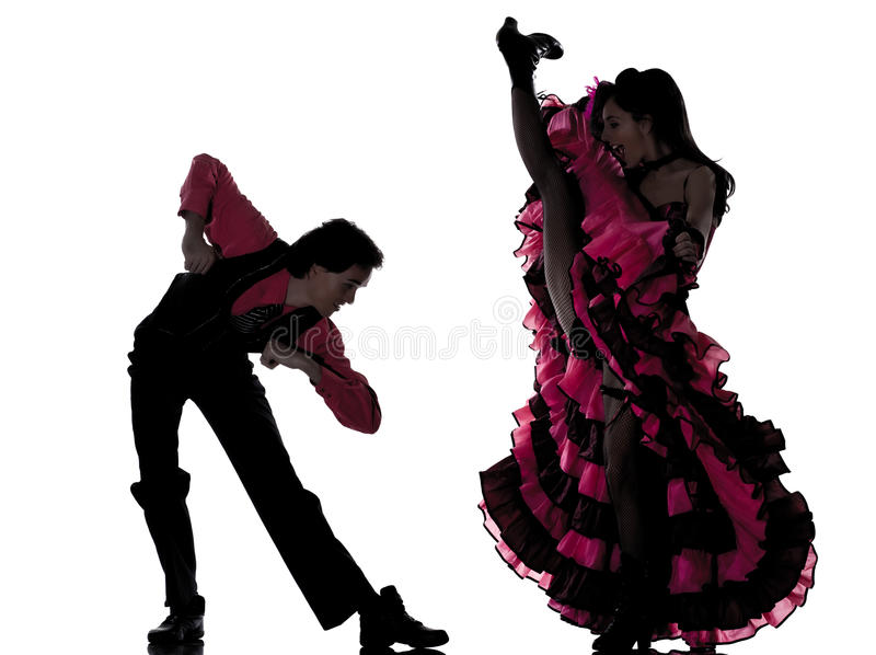 танцор пар cancan танцуя французская женщина человека стоковое изображение rf