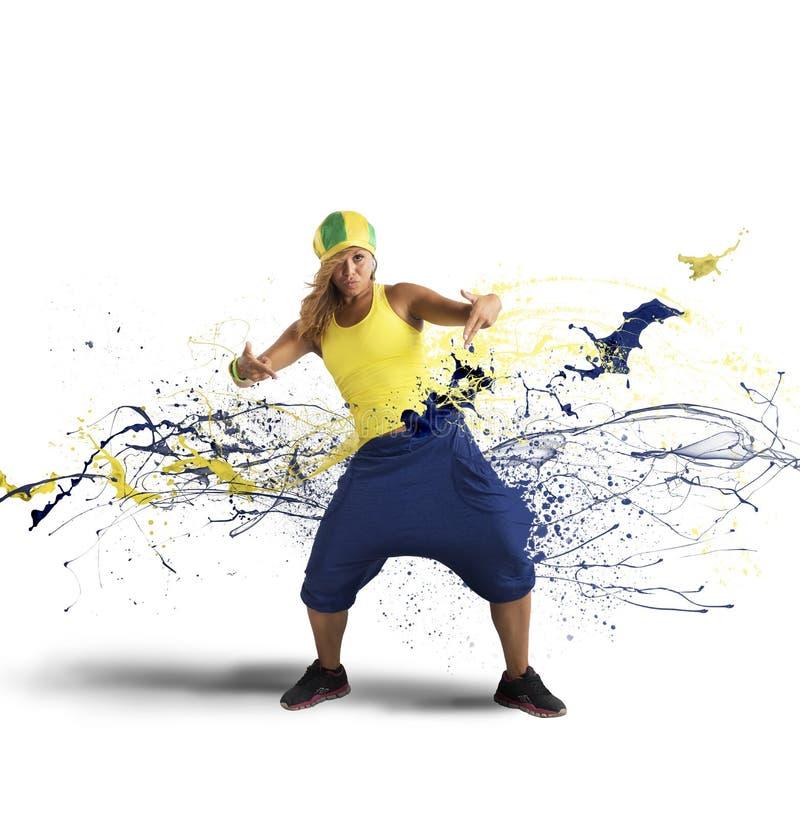 Танцор рэпа стоковые фотографии rf