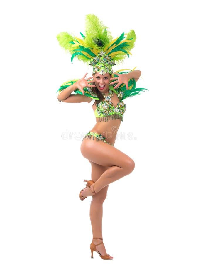 Танцор самбы стоковое изображение rf