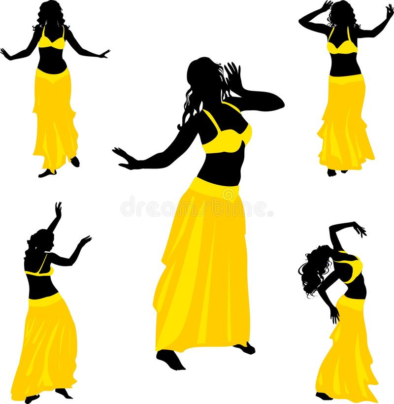 Танцор танца живота иллюстрация штока