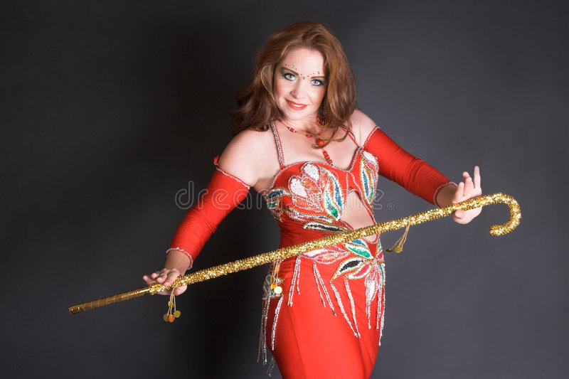 танцор тросточки живота стоковые изображения
