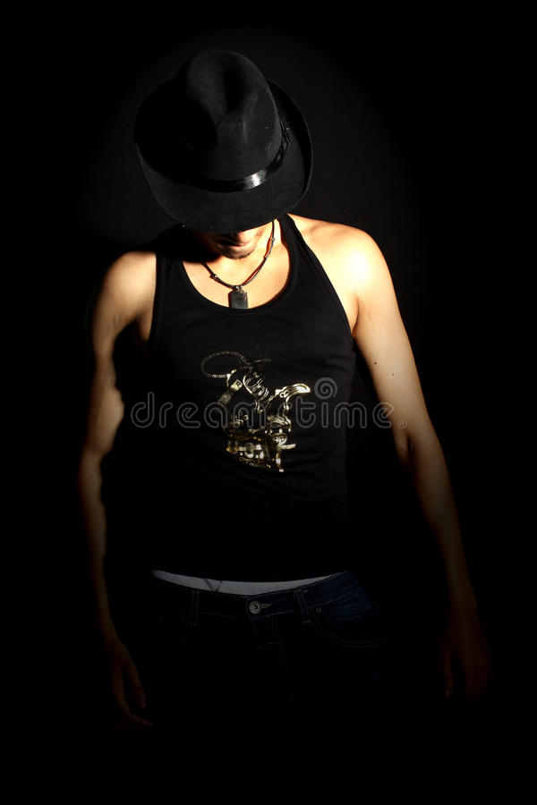 Танцор фары стоковые фотографии rf