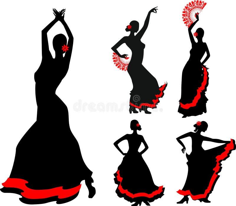 Танцор фламенко иллюстрация вектора