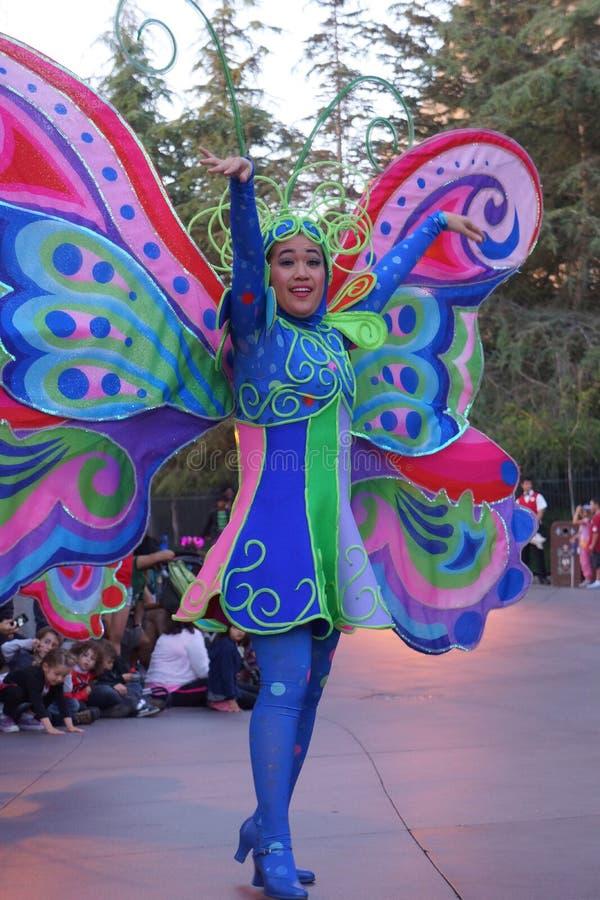 Танцор характера парада фантазии Диснейленда стоковые фотографии rf
