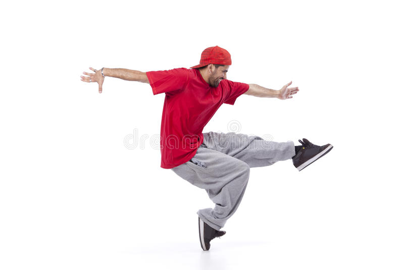 Танцор хмеля вальмы стоковое изображение rf