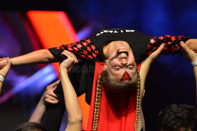 Танцор хмеля израильской молодости тазобедренный стоковые фото