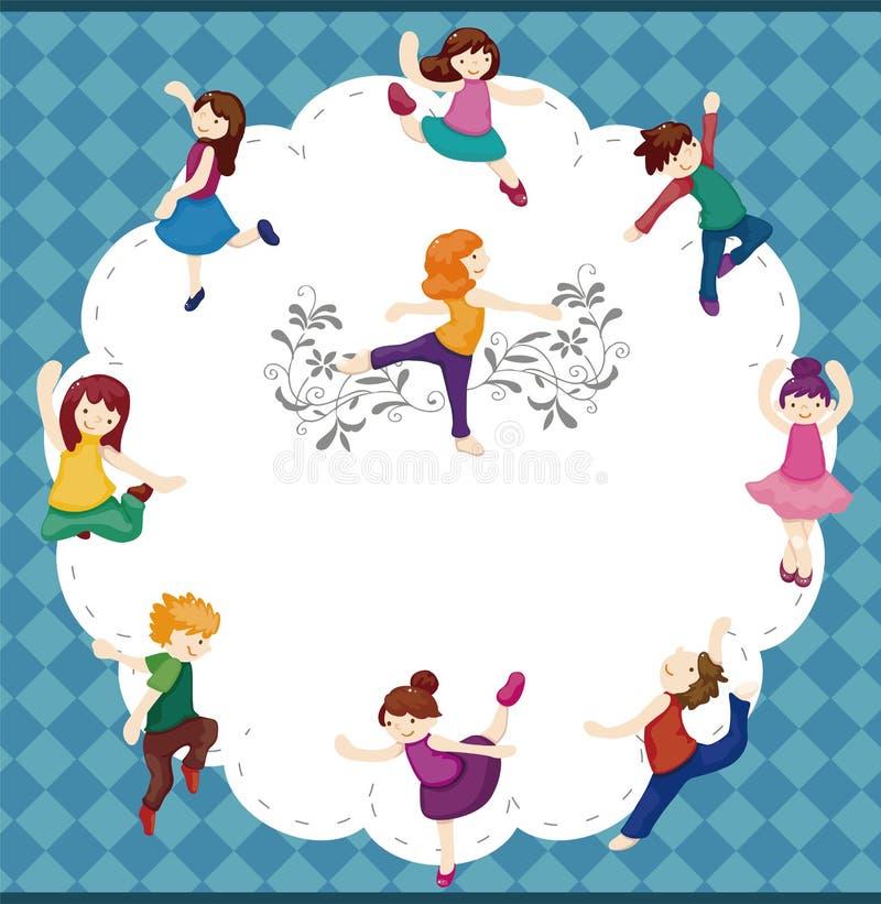 танцор шаржа карточки иллюстрация вектора