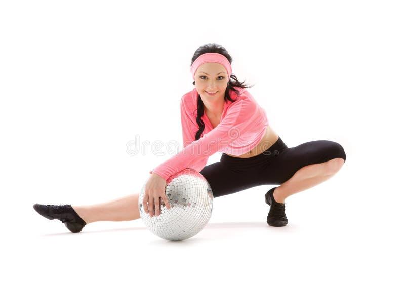 Танцор шарика диско стоковые изображения