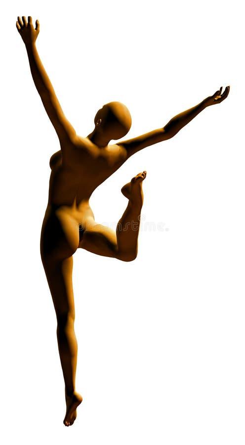 танцор 3 золотистый стоковое фото