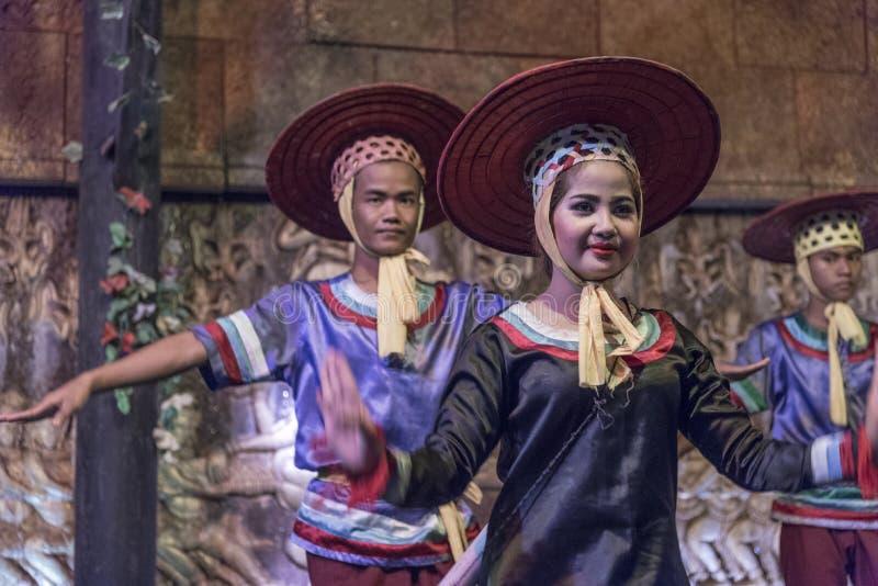 Танцор Apsara в Siem Reap Камбодже стоковые изображения rf