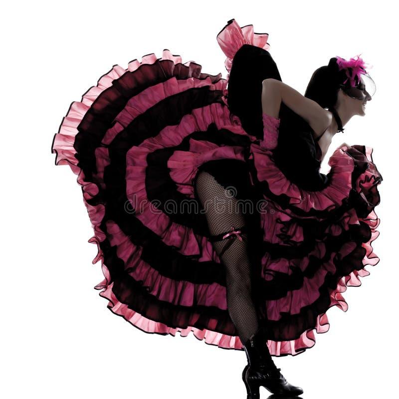 танцор cancan танцуя французская женщина стоковая фотография rf