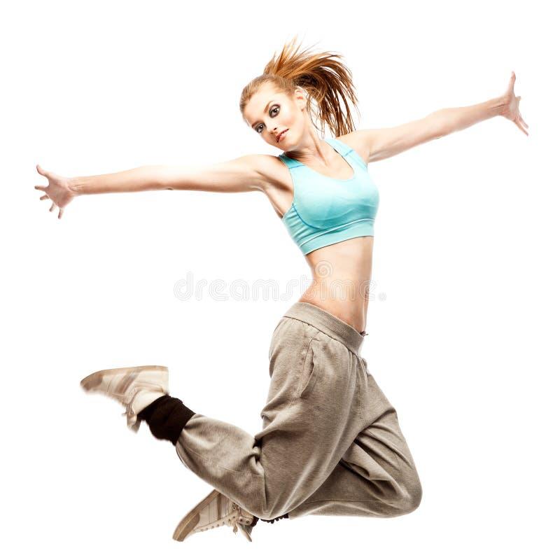 Танцор hip-hop девушки стоковое фото