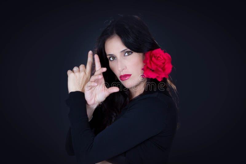 Танцор Tradicional испанский от Андалусии стоковые фотографии rf