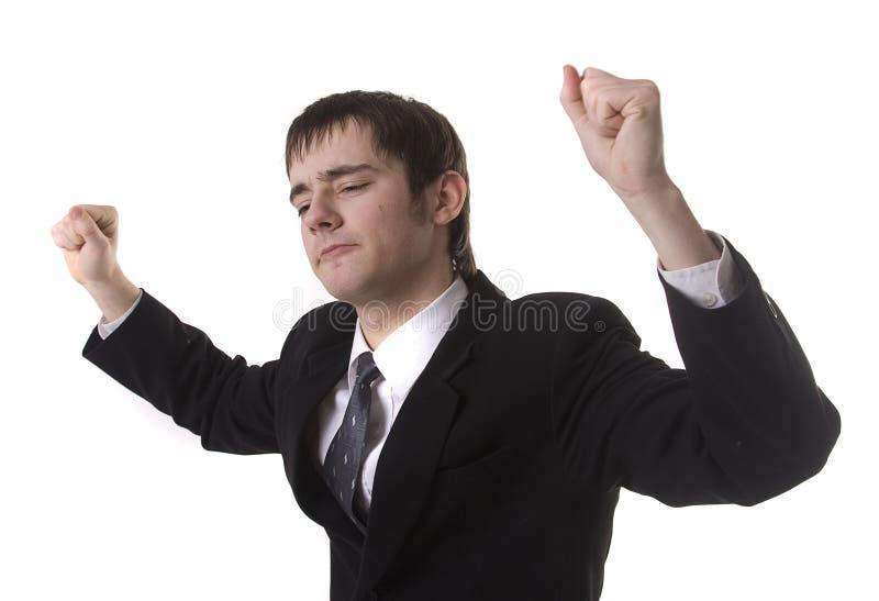 танцулька бизнесмена стоковое фото rf