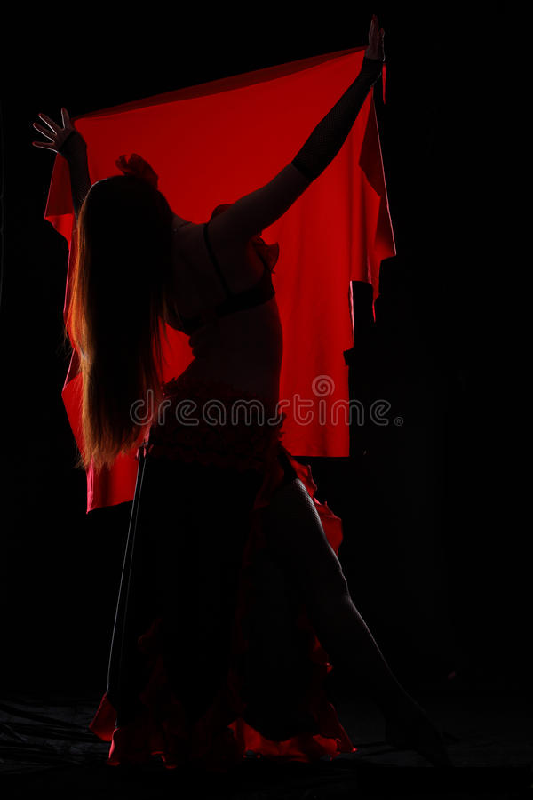 Танцулька в темноте стоковое изображение rf