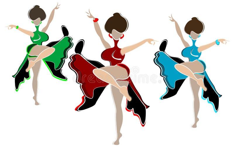 танцулька запальчиво бесплатная иллюстрация
