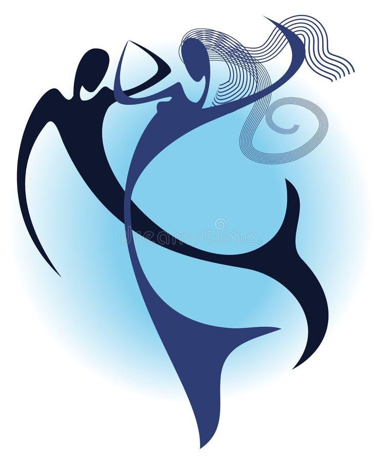 танцулька под водой иллюстрация вектора