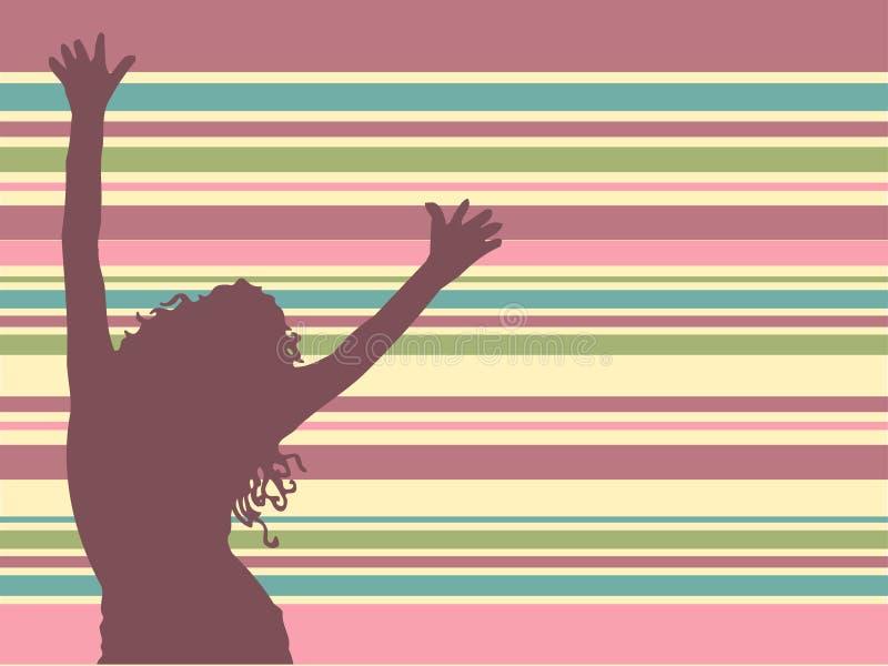 танцулька препятствует иллюстрация вектора