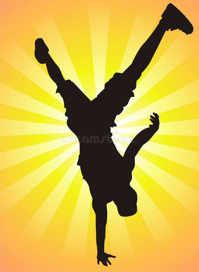 танцулька пролома иллюстрация вектора