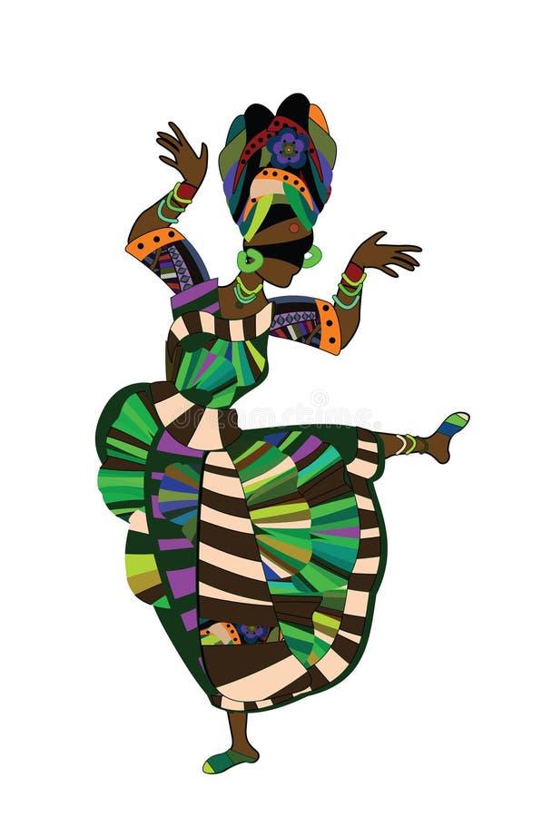 танцулька этническая иллюстрация штока
