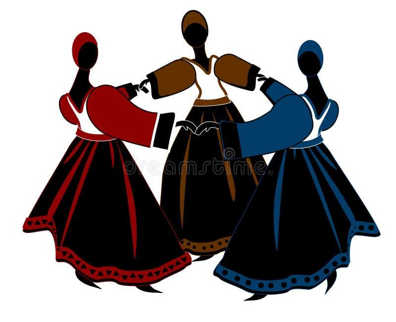 танцулька иллюстрация штока